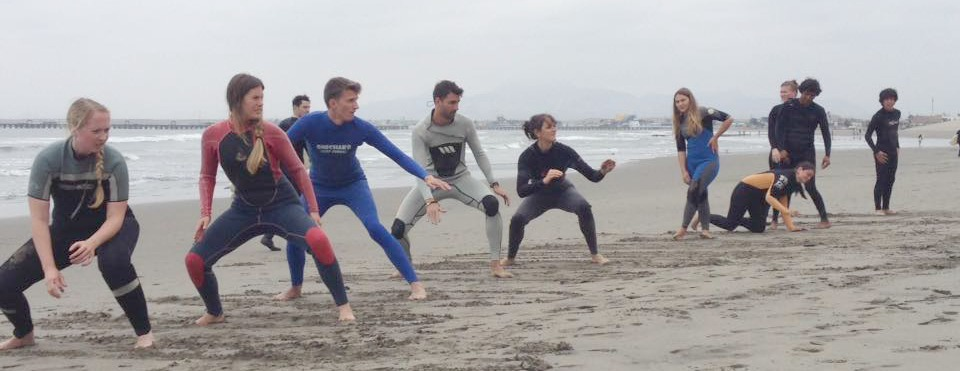 Surf class in Huanchaco