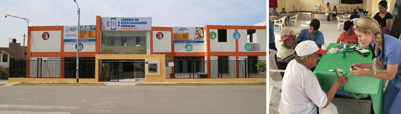 Trujillo Hospital and student in health fair